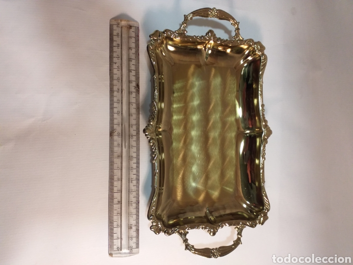 Antigüedades: Bandejita dorada impoluta - Foto 2 - 195925956
