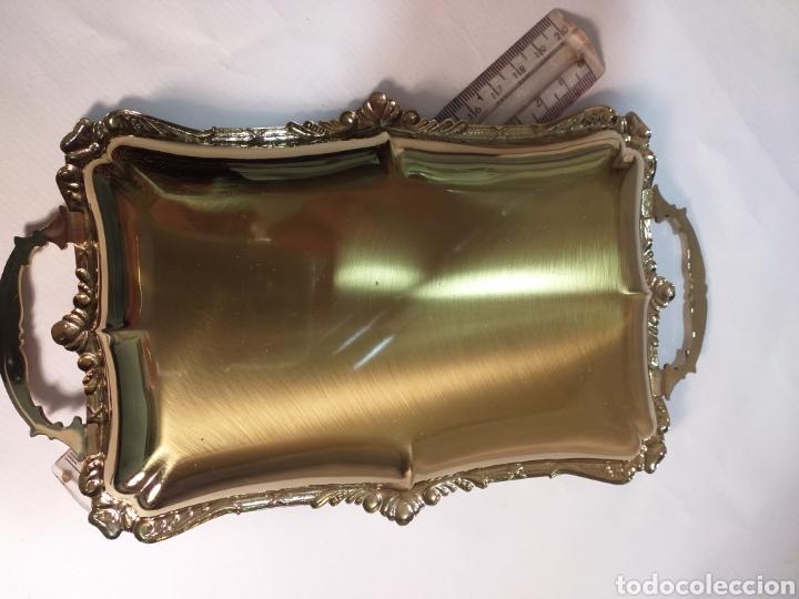 Antigüedades: Bandejita dorada impoluta - Foto 3 - 195925956