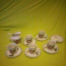 Antigüedades: BONITO SERVICIO DE CAFÉ DE PORCELANA SELTMAN WEIDER BAVARIA W. GERMANY. Lote 195940676