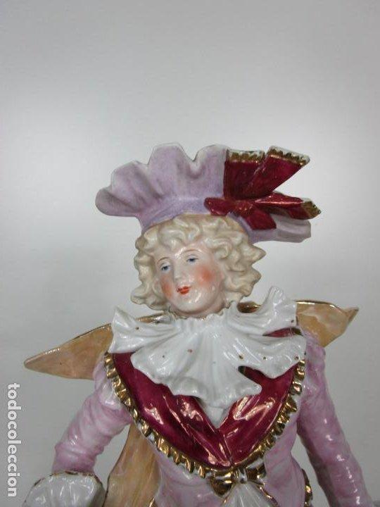 Antigüedades: Esplendida Gran Figura - Porcelana Biscuit Esmaltada - Alemania - 44 cm Altura - S. XIX - Foto 8 - 195944492