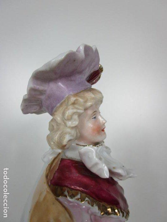 Antigüedades: Esplendida Gran Figura - Porcelana Biscuit Esmaltada - Alemania - 44 cm Altura - S. XIX - Foto 17 - 195944492