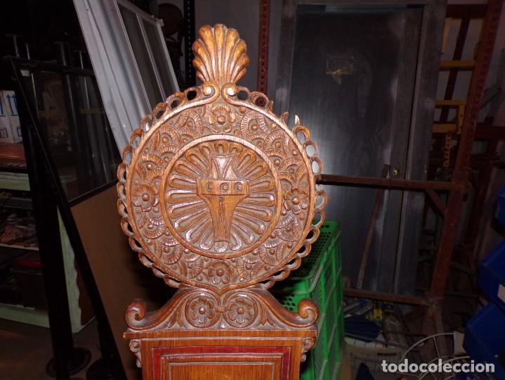 Antigüedades: par de sillas iglesia religioso templos - Foto 2 - 195991316
