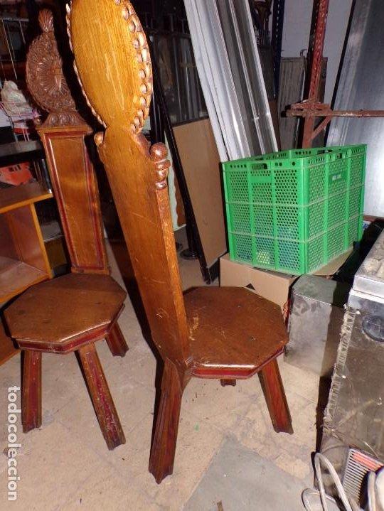 Antigüedades: par de sillas iglesia religioso templos - Foto 3 - 195991316