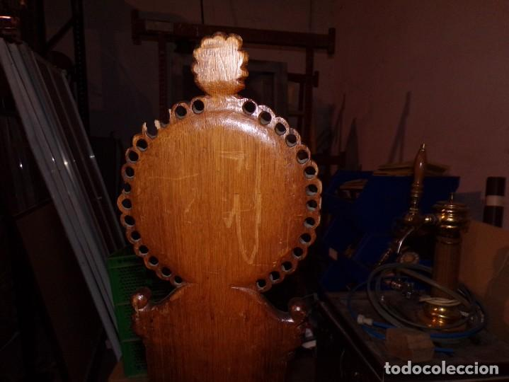 Antigüedades: par de sillas iglesia religioso templos - Foto 4 - 195991316