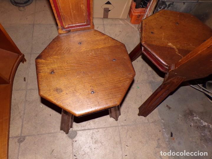 Antigüedades: par de sillas iglesia religioso templos - Foto 6 - 195991316