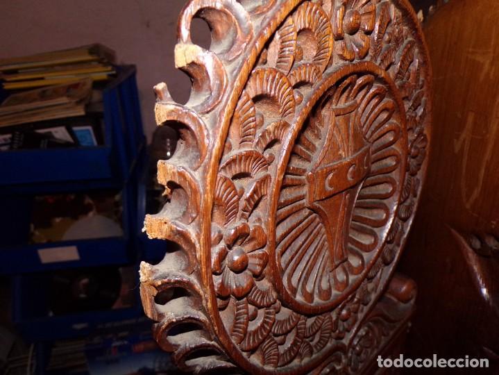 Antigüedades: par de sillas iglesia religioso templos - Foto 8 - 195991316