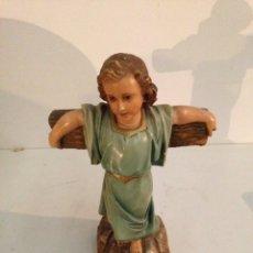 Antigüedades: ANTIGUO ANGEL EN CRUZ. Lote 196000465
