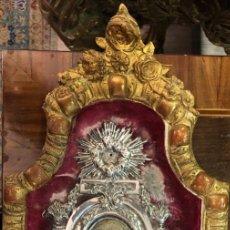 Antigüedades: BENDITERA PLATA SIGLO XVIII MALLORCA CON CONTRASTE. Lote 196048688