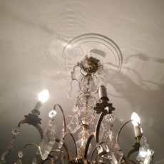 Antigüedades: LAMPARA ANTIGUA TIPO SANTA TERESA. Lote 196077405