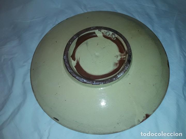 Antigüedades: Gran plato cerámica La Bisbal con Pez 31.5cm - Foto 6 - 220134916