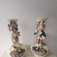 Antigüedades: JARRONES DE PORCELANA. Lote 196089986
