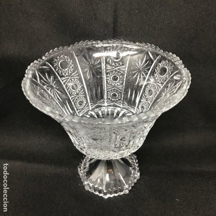 Antigüedades: Compotera Huertana-Cristal de Santa Lucía - Foto 2 - 196110456