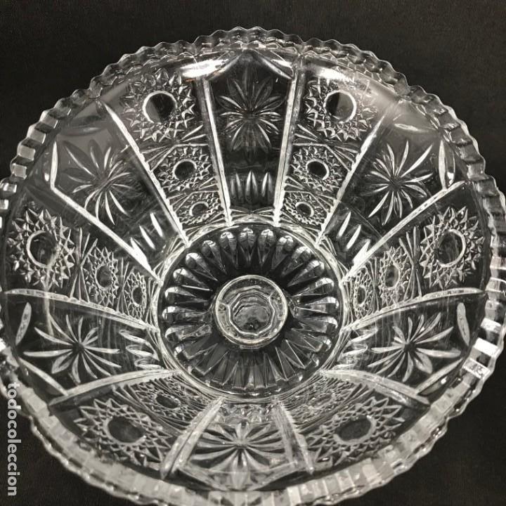 Antigüedades: Compotera Huertana-Cristal de Santa Lucía - Foto 10 - 196110456