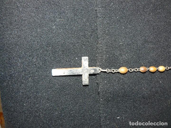 Antigüedades: Antiguo Rosario con las cuentas en madera - Foto 3 - 196124240