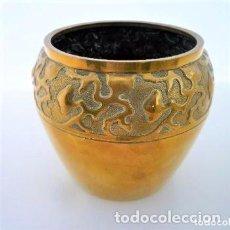Antigüedades: BUCARO, FLORERO, JARRÓN PARA CAPILLA 12 X 12 CMS. 390 GRS.. Lote 102561059