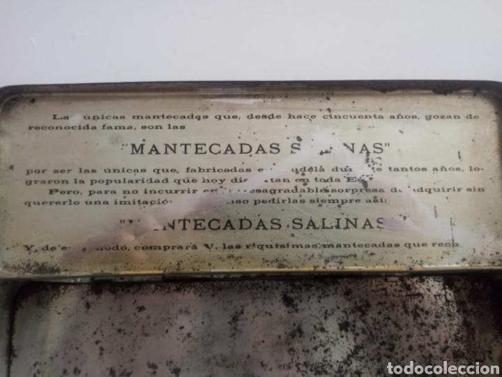Antigüedades: CAJA MANTECADAS SALINAS. ANTIGUA CAJA METALICA - Foto 7 - 196172805