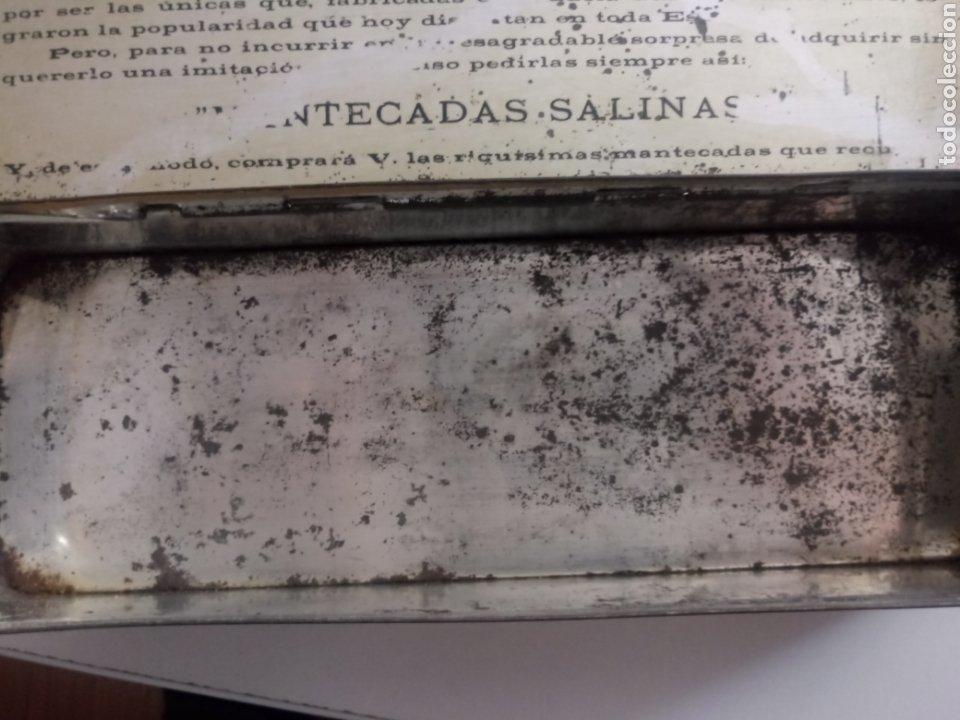 Antigüedades: CAJA MANTECADAS SALINAS. ANTIGUA CAJA METALICA - Foto 8 - 196172805
