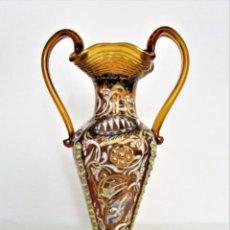 Antigüedades: CIRERA - ROYO - JARRÓN DECORACIÓN POLICROMADO ESMALTADO. Lote 196189485
