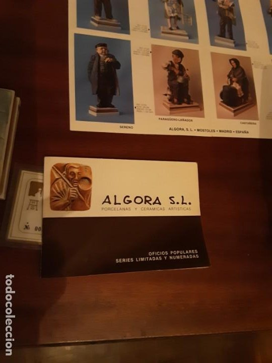 Antigüedades: Sillera - Serie oficios - Porcelana Algora - Serie limitada - Con certificado - Foto 4 - 194958792