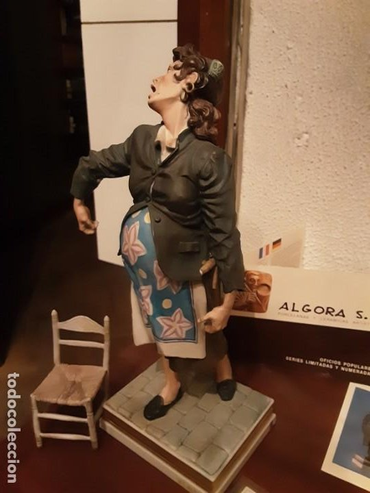 Antigüedades: Sillera - Serie oficios - Porcelana Algora - Serie limitada - Con certificado - Foto 7 - 194958792