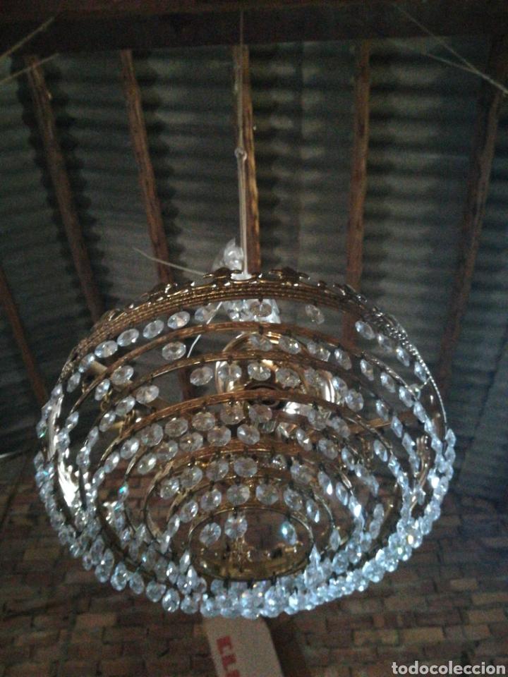 Antigüedades: Aplique techo lagrima cristal - Foto 2 - 196195372