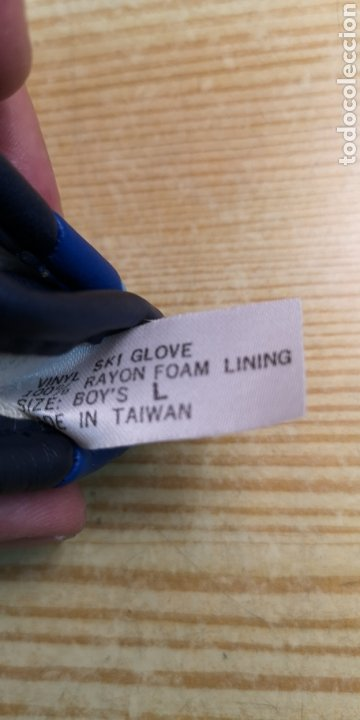 Antigüedades: Guantes motorista de cuero talla L - Foto 3 - 196203906