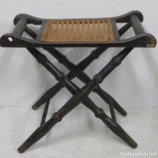 Antigüedades: ANTIGUA BANQUETA PLEGABLE. PPIOS. SIGLO XX. Lote 196216225