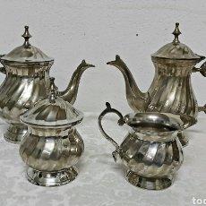 Antigüedades: JUEGO DE TÉ O CAFÉ SILVER PLATED. Lote 196227990