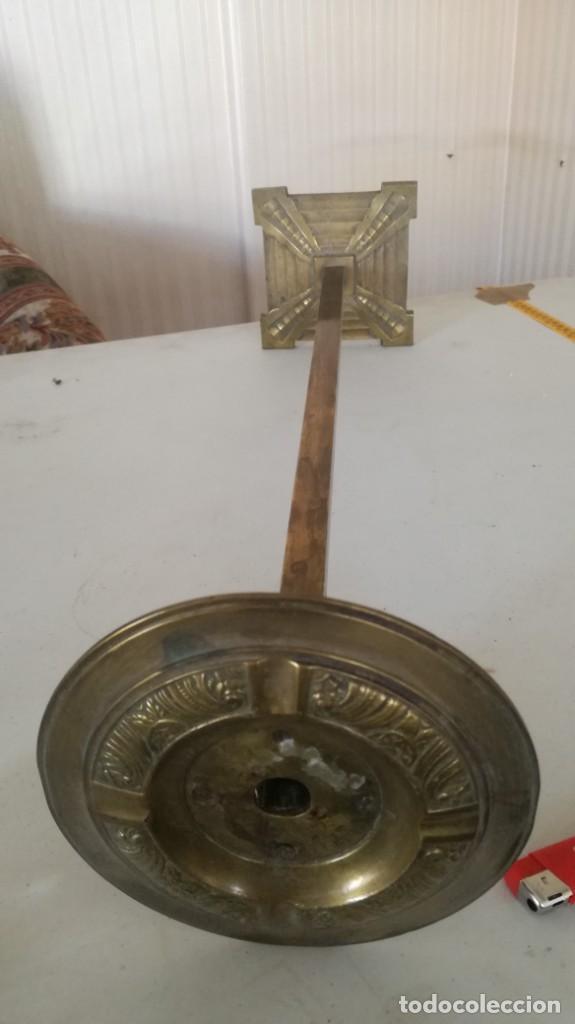 CENICERO PIE DE BRONCE (Antigüedades - Hogar y Decoración - Ceniceros Antiguos)