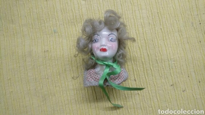 Antigüedades: FIGURA ANTIGUO BUSTO CERAMICA , gran parecido a la actriz Bete Davis. MUY ANTIGUA. - Foto 3 - 196237092
