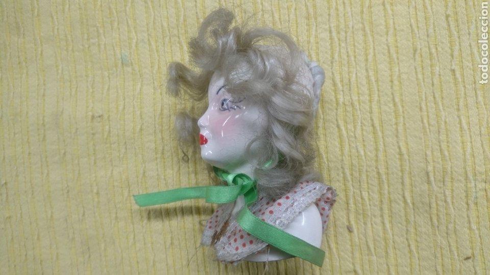 Antigüedades: FIGURA ANTIGUO BUSTO CERAMICA , gran parecido a la actriz Bete Davis. MUY ANTIGUA. - Foto 2 - 196237092