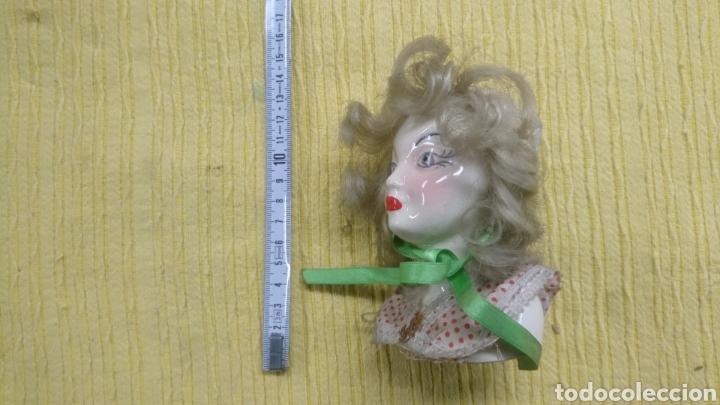 Antigüedades: FIGURA ANTIGUO BUSTO CERAMICA , gran parecido a la actriz Bete Davis. MUY ANTIGUA. - Foto 5 - 196237092