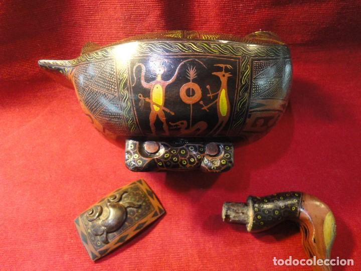 Antigüedades: PATO DE MADERA - Foto 4 - 196253436