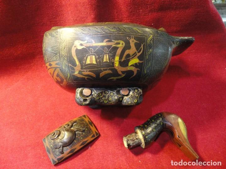 Antigüedades: PATO DE MADERA - Foto 5 - 196253436