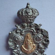 Antigüedades: MEDALLA MEDALLON VIRGEN DEL ROCÍO JEREZ 7 X 11 CM. Lote 196267002