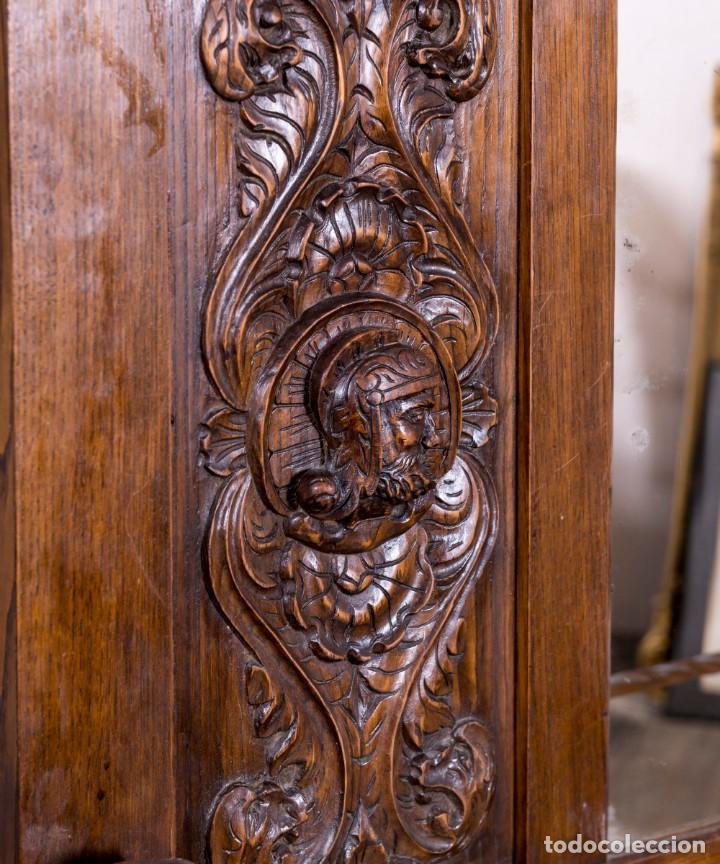 Antigüedades: Mueble Perchero Antiguo De Madera - Foto 2 - 196267633