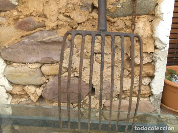 Antigüedades: Antigua horca de 9 puntas - Foto 13 - 195812248