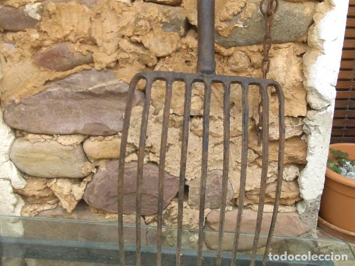 Antigüedades: Antigua horca de 9 puntas - Foto 15 - 195812248