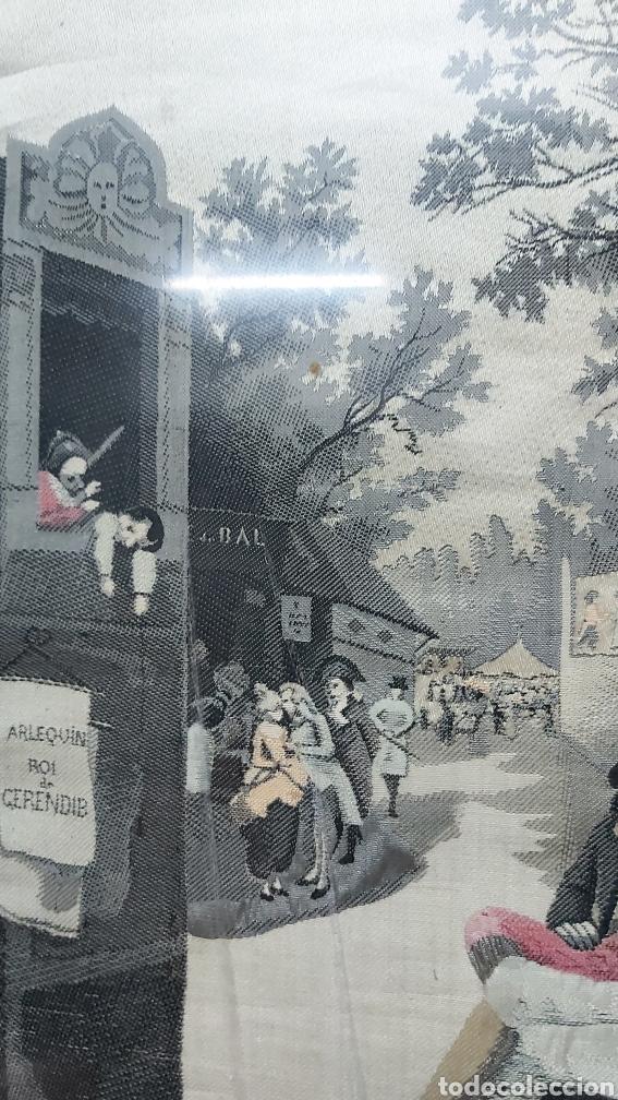Antigüedades: TAPIZ S.XIX JACQUARD EN SEDA DE NEYRET FRÉRES. FIRMADO A. LONZA - Foto 3 - 196229296