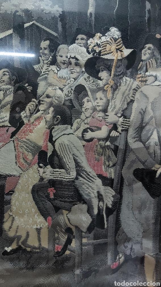Antigüedades: TAPIZ S.XIX JACQUARD EN SEDA DE NEYRET FRÉRES. FIRMADO A. LONZA - Foto 5 - 196229296