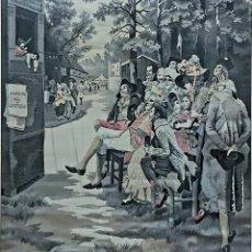 Antigüedades: TAPIZ S.XIX JACQUARD EN SEDA DE NEYRET FRÉRES. FIRMADO A. LONZA. Lote 196229296