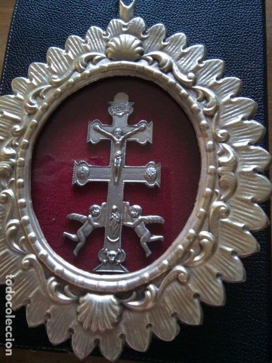 * CRUZ DE CARAVACA.12 CM. (RF;GV/H) (Antigüedades - Religiosas - Cruces Antiguas)