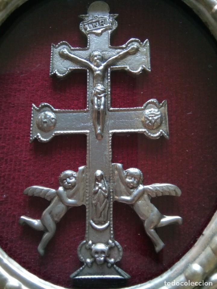 Antigüedades: * CRUZ DE CARAVACA.12 CM. (Rf;GV/h) - Foto 2 - 196285511