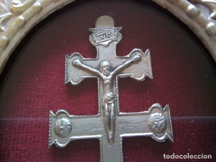 Antigüedades: * CRUZ DE CARAVACA.12 CM. (Rf;GV/h) - Foto 3 - 196285511