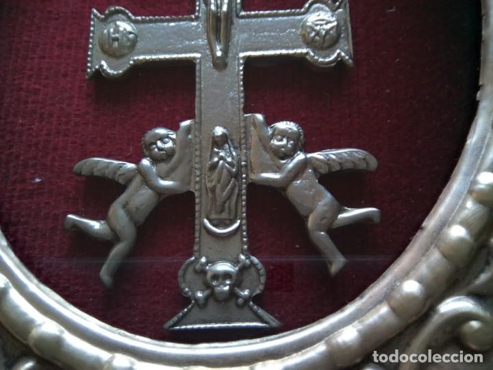 Antigüedades: * CRUZ DE CARAVACA.12 CM. (Rf;GV/h) - Foto 4 - 196285511