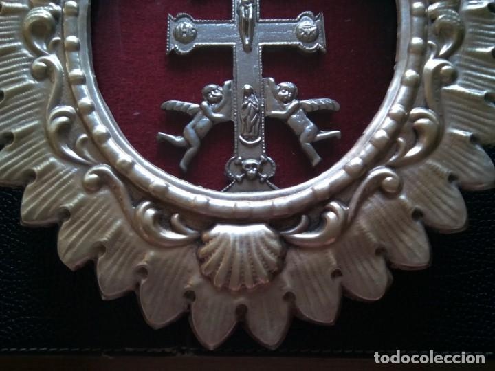 Antigüedades: * CRUZ DE CARAVACA.12 CM. (Rf;GV/h) - Foto 7 - 196285511