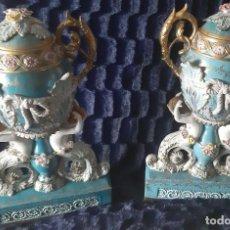 Antigüedades: PAREJA DE JARRONES. Lote 128752691