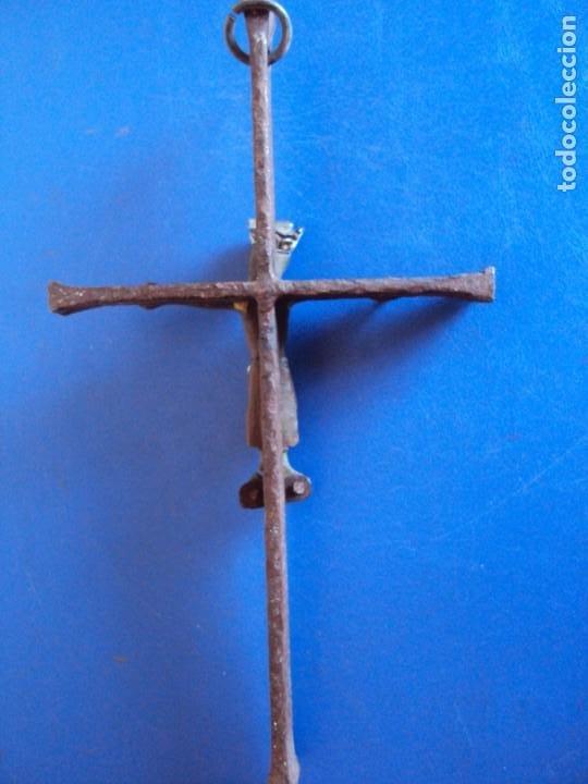 Antigüedades: (ANT-200333)CRUCIFIJO ESTILO NEOROMANICO APROXIMADAMENTE AÑOS 20-30 CRUZ DE FORJA MAS ANTIGUA - Foto 10 - 196334531