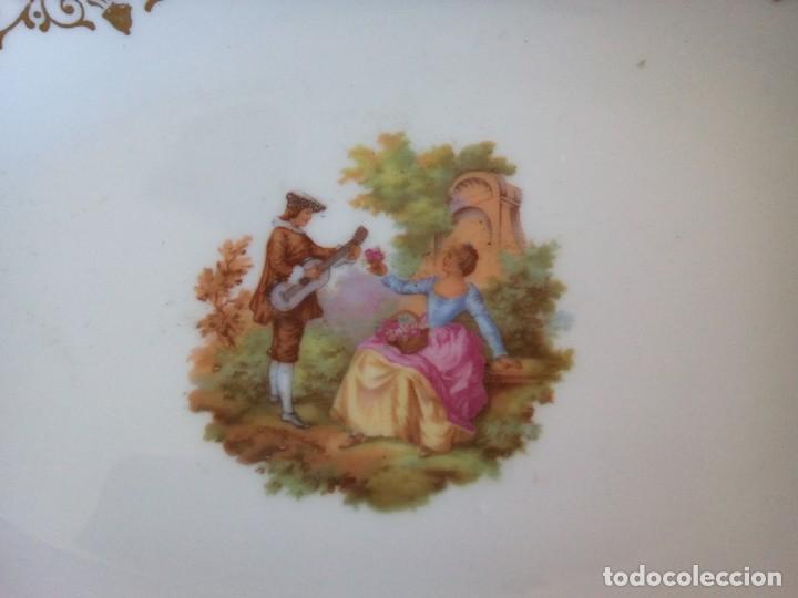 Antigüedades: * BANDEJAS PORCELANA. FRAONARD.35 CM. (Rf:B/e) - Foto 6 - 196347502