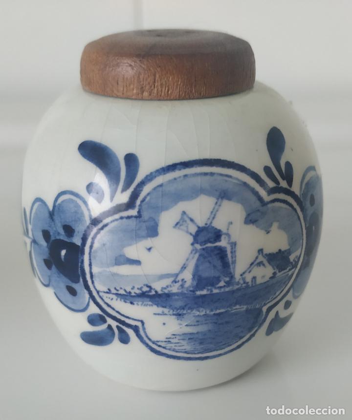 Antigüedades: Pequeños salero y azucarero de porcelana holandesa de Delf. - Foto 7 - 196377428